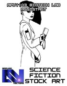 Science Fiction Stock Art: Biotech Lab Assistant