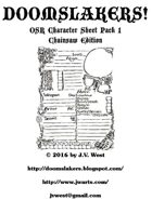 Doomslakers OSR Character Sheets Pack 1