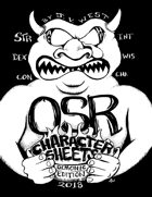 OSR Character Sheets Demonic Edition