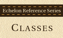 Echelon Reference Series: CLASSES
