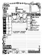 Old-School Essentials Underground Character Sheet (Ascending AC Version)