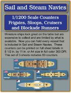 S&SN Counters - Frigates, Sloops, Cruisers & Blockade Runners