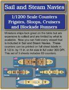 S&SN Counters - Frigates, Sloops, Cruisers & Blockade Runners