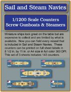 S&SN Counters - Screw Gunboats & Steamers