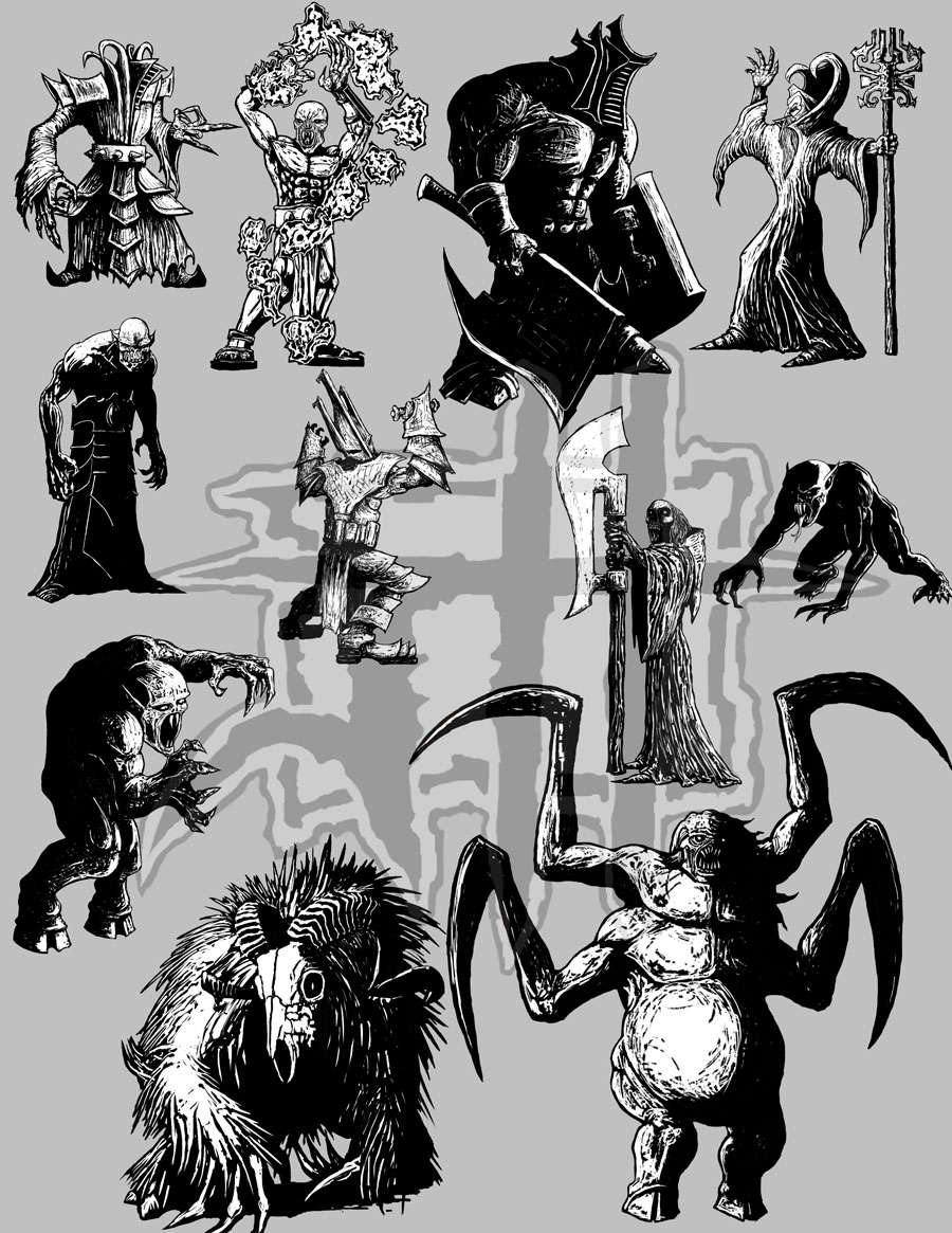image about Printable Paper Miniatures identified as Printable Miniatures Established 2 - Jeremy Hart Printable Paper Miniatures