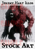 Werewolf 1 Stock Art
