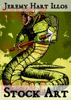 Snake Man 2 Stock Art