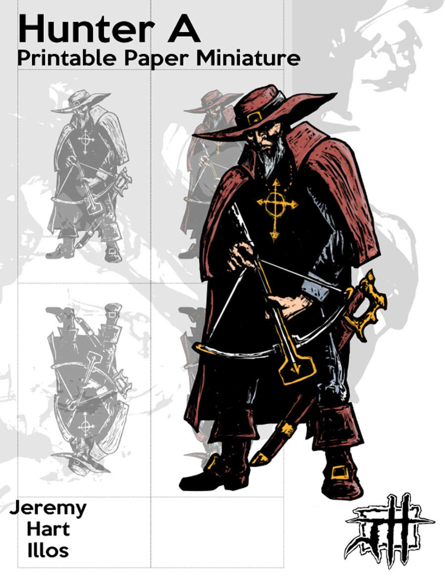 image about Printable Paper Miniatures known as Print-and-Perform PDF