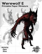 Werewolf E Solo Paper Mini