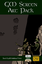 Dungeon World GM Screen Art Pack
