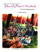 The Tekumel Player's Handbook Combat Summary - Swords & Glory Vol. 2