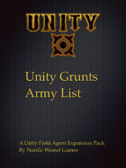 Unity Grunts Army list for UFA