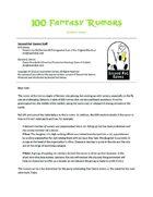 100 Fantasy Rumors