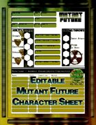Mutant Future Editable Character Sheet