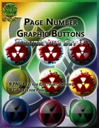 Knotty Works Page Number Buttons Radioactive Set 1