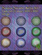 Knotty Works Nouveau November Buttons Set 1