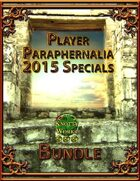 2015 Player Paraphernalia Special Issues [BUNDLE]