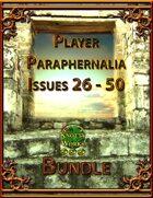 Player Paraphernalia Issues 26 - 50 [BUNDLE]