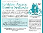 Forbidden Arcana: Burning Spellbooks