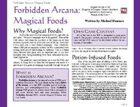 Forbidden Arcana: Magical Foods