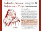 Forbidden Arcana: Performance Magic