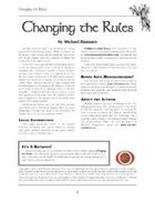 Changing the Rules (Revised)