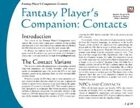 Fantasy Player's Companion: Contacts