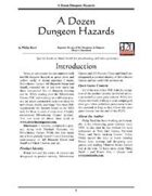 A Dozen Dungeon Hazards