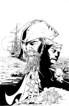 OE Stock Art - Pirates! Black & White Cover