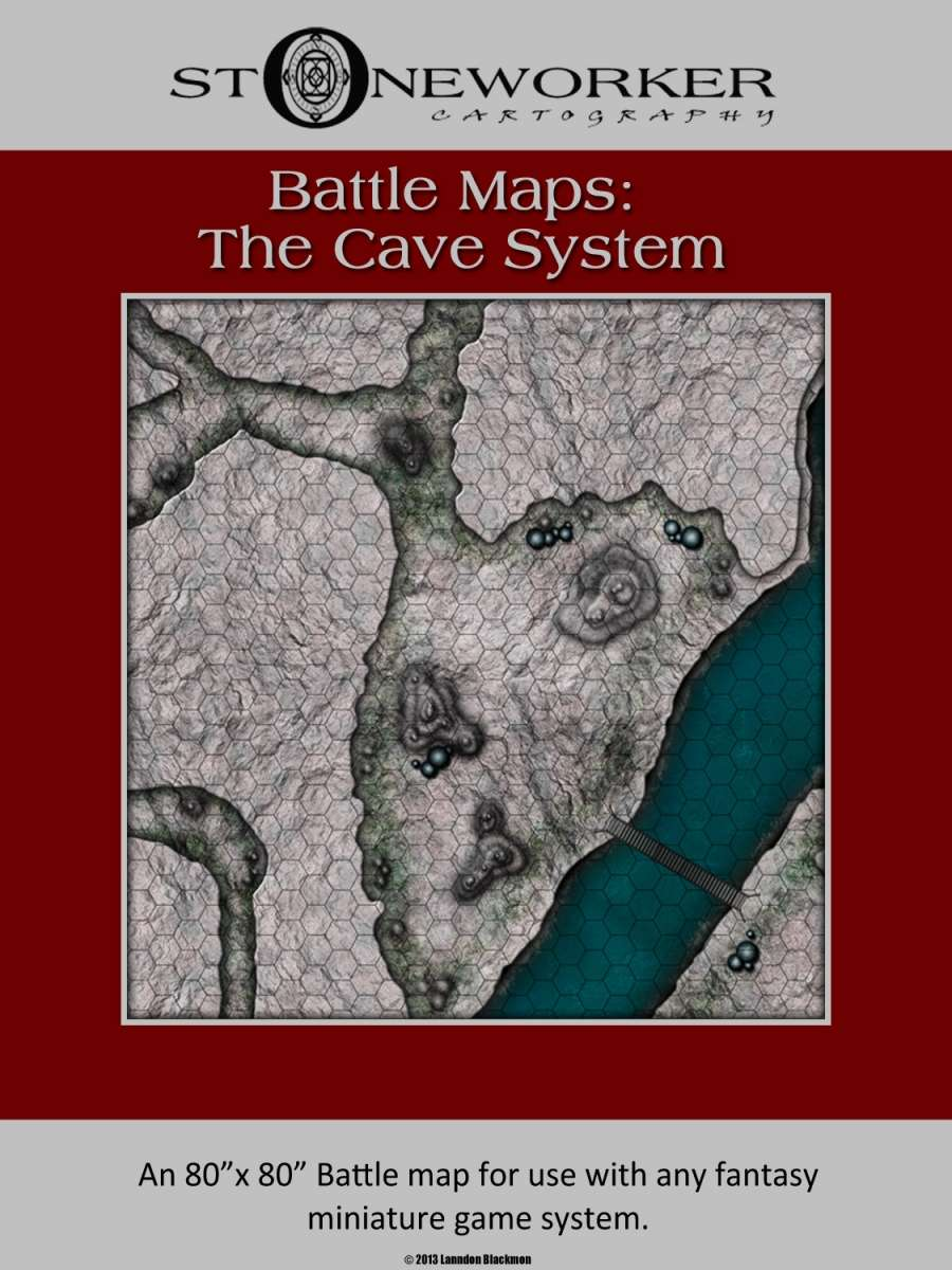 Battle Maps The Cave System Stoneworker Cartography