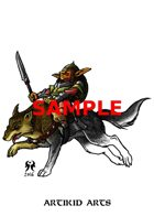 Dire wolf goblin rider