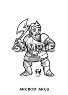 Woodcut Dwarf