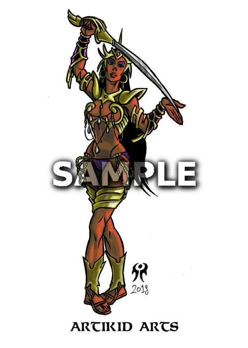 Bejewelled Warrior Princess