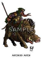 Dwarf warhog rider
