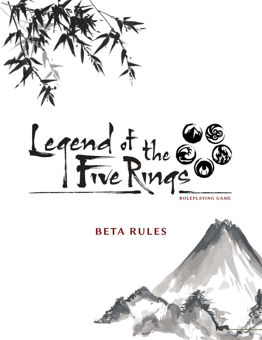 Legend of the Five Rings RPG Beta Rulebook - Fantasy Flight Games