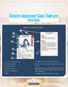 Genesys Adversary Card Template