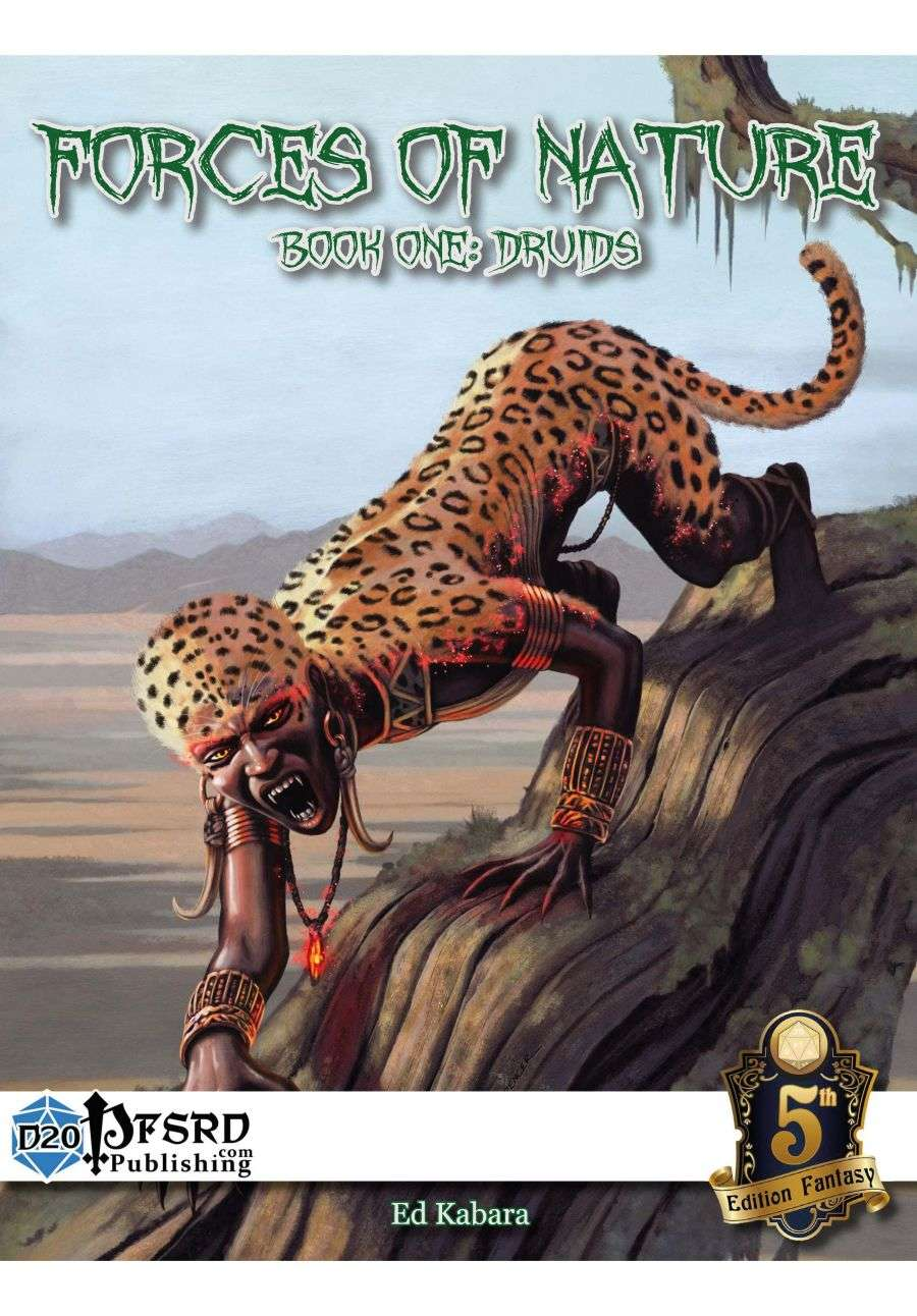 Forces Of Nature Book 1 The Druid 5e D20pfsrdcom