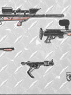 clip art: Weapons locker sci fi guns