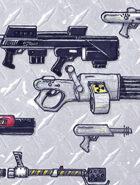 clip art: Weapons locker 2 sci fi energy guns
