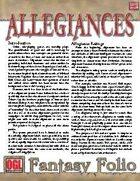 Fantasy Folio: Allegiances
