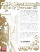 GM'S COOKBOOK: Inns & Taverns #1