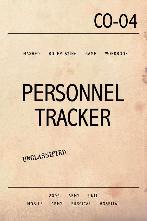 mashed personnel tracker deluxe workbook brabblemark press