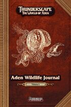 Thunderscape: Aden Wildlife Journal, Vol. 1