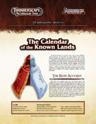 Thunderscape: Aden Gazette 16 - Calendar of the Known Lands