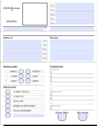 Tent Style Character Sheet - Fillable