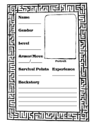 The Maze of Memory Prisoner Worksheets