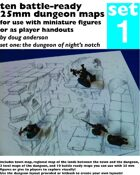 Ten Battle-Ready 25mm Dungeon Maps Set One