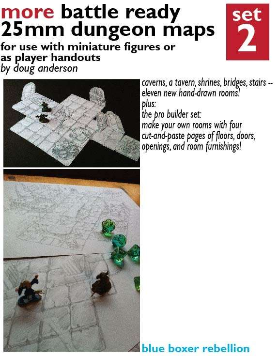 More Battle-Ready 25mm Dungeon Maps Set Two