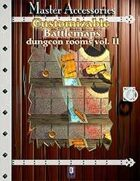 Customizable Battlemaps, dungeon rooms Vol.II