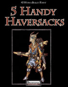 #1 With a Bullet Point: 5 Handy Haversacks